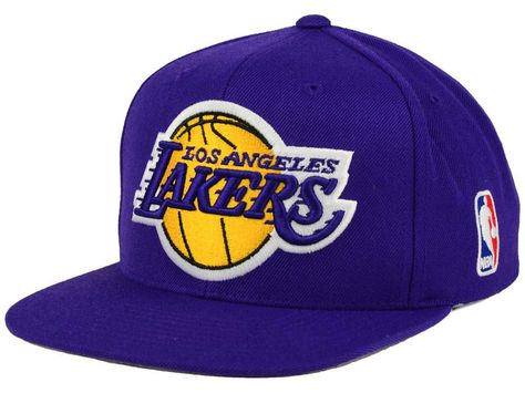 Los Angeles Lakers Mitchell   Ness NBA XL Logo Snapback Cap in 2018 ... 59776800fafe