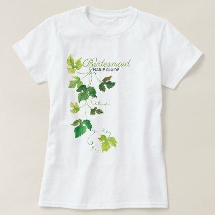 Watercolor Wine And Grapes Wedding T Shirt Wedding Gifts