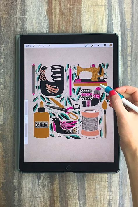 Learn to Create Recipe Illustration on Your iPad in