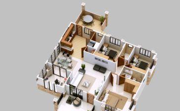 One Bedroom House Apartment Plans Amazing Architecture Magazine Bungalow House Plans Bungalow House Design Bungalow Floor Plans
