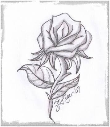 Resultado De Imagen Para Dibujos De Amor A Lapiz Faciles De Copiar Dibujo De Rosa Dibujos De Amor Easy Pencil Drawings