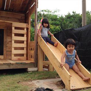 手作りの滑り台をdiyして子供の遊び場を作っているまとめ 子供の