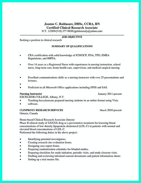 research associate resume sample making clinical research