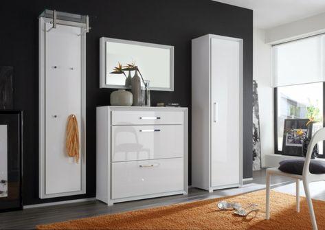 Moderne Wandgarderobe Weiß.Wandgarderobe Design Modern Weiss Spiegel Ideen