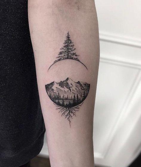 Tattoo Mountain Range Trees Tatoo 25 Ideas Small Hand Tattoos Tattoo Designs Men Tattoos For Guys