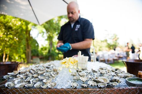 oyster bar at the wedding