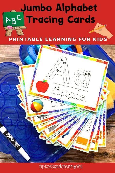 Alphabet Flashcards Handwriting Letter Tracing Preschool | Etsy