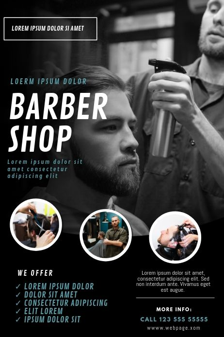Barber Shop Flyer Design Template Flyer Design Templates Barber Shop Barber