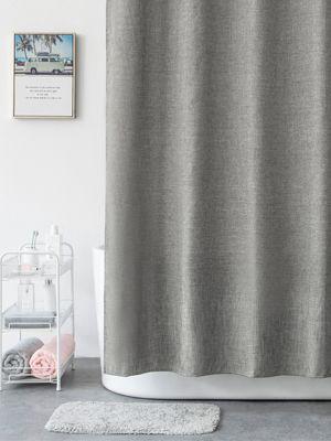 aimjerry grey heavy duty fabric shower
