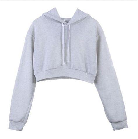 Womens Autumn Winter Hoodie Sweatshirt Ladies Plain Hooded Jumper Pullover Tops