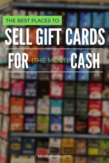 17 Best Places To Sell Gift Cards For Cash In 2020 Online Near You Moneypantry In 2020 Sell Gift Cards Gift Card Trade Gift Cards