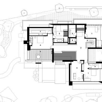 Functionality Construction Architects Fireplaces Stuttgart Alexander Exception Fireplace Carefully Loc Floor Plans House Floor Plans Fireplace Design