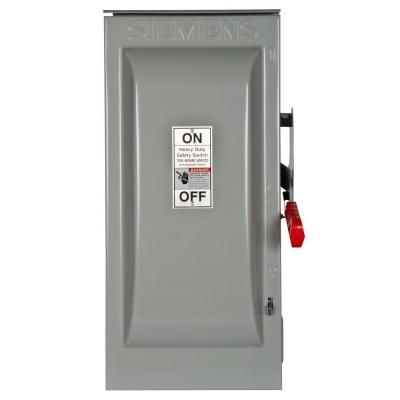 Siemens Heavy Duty 100 Amp 600 Volt 3 Pole Outdoor Non Fusible Safety Switch Products In 2019 Safety Switch Safety Electrical Switches
