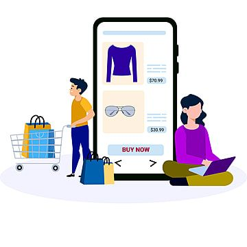 Online Shopping Concept With Man And Woman Characters Shopping Cart Png Vector Png And Vector With Transparent Background For Free Download Logo Online Shop Shopping Clipart Female Characters