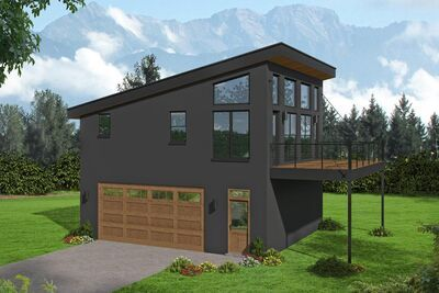 Plan 68693vr Contemporary Carriage House Plan With Balcony Carriage House Plans House Plans Garage Apartment Plan