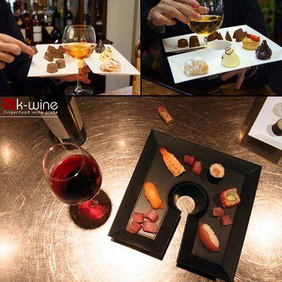 wine food plates