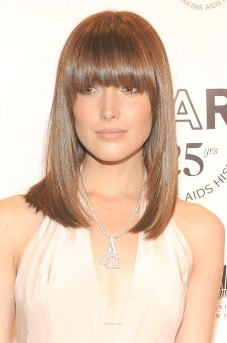 2015 S Most Popular Straight Hairstyles With Bangs Women Styles Bob Haircut With Bangs Hairstyles With Bangs Haircuts With Bangs