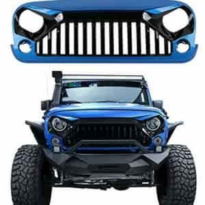 U Box Gloss Black And Hydro Blue Vader Gladiator Front Grille For Jeep Jk Best Jeep Wrangler Jeep Wrangler Jk Jeep Wrangler