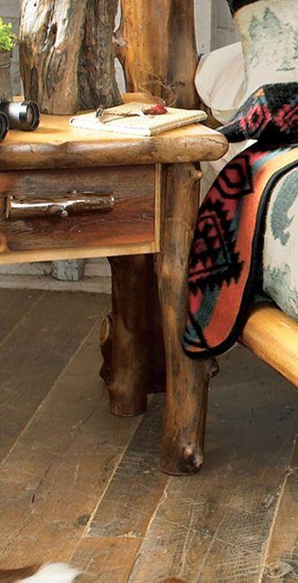 Aspen Creek Log Cabin Nightstand Log Beds Nightstands Dressers Log Bedroom Furniture Rustic Furniture Cowhide Furniture