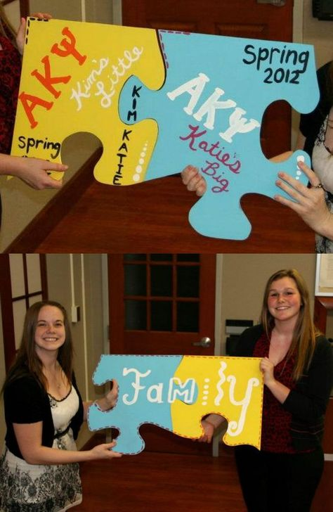 Puzzle Pieces for Big & Little! :)