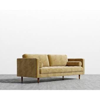 Garren 75 6 Square Arm Sofa In 2020 Deep Sofa Fabric Sofa Sofa Frame