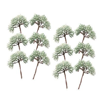 12x Succulents Artificial Fake Plants Wedding Home Decor Handmade Accessories Ebay In 2020 Fake Plants Succulents Diy Artificial Plants