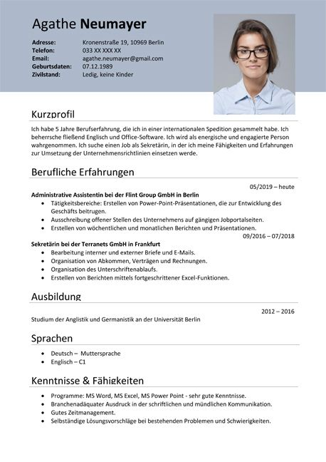 Inspiring German Resume Template Ideas Mit Bildern Lebenslauf