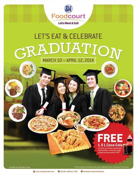 Let's eat and celebrate graduation here at SM Foodcourt Bicutan!