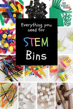 This article has a good idea for what should be in STEM bins in that learning center. I would keep a majority of the materials in clear bins so that they& easy to see and access. Stem Learning, Project Based Learning, Preschool Learning, Teaching Science, Teaching Ideas, Science Experiments Kids, Science For Kids, Classroom Organization, Organization Ideas