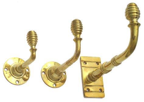 Solid Brass Beehive Coat Hook Antique Victorian Style Hat Robe Towel 3 Sizes Ebay Coat Hooks Victorian Fashion Solid Brass