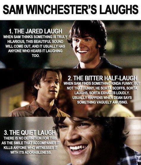 Sam Winchester's laugh ♡