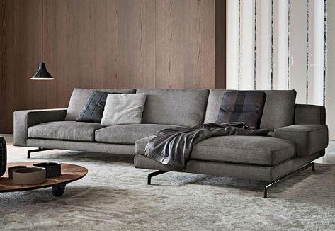 Carla Fabric Sofa w  diagonal corner seat Darlings of Chelsea - designer ecksofa lava vertjet