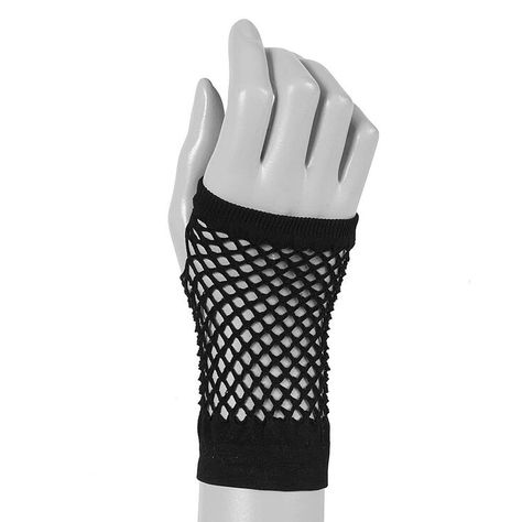 """You've got it, and these gloves get it. These fishnets show off your fab vibe in a flash. One size Length: 4.5"""" Pack Size: 1 pair Material: Polyester - Claire's Flash Fishnet Gloves - Black Cute Emo Outfits, Edgy Outfits, Cosplay Outfits, Gloves Fashion, Fashion Boots, Kawaii Clothes, Cute Emo Clothes, Black Gloves, Teen Fashion Outfits"""