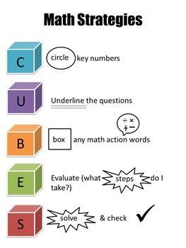 Cubes Math Problem Solving Strategy Math Problem Solving