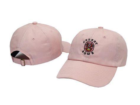 33ddfa2446b 3.99AUD - Golf Wang Cherry Bomb Embroidered Hat Baseball Cap Strapback Pink   ebay  Fashion
