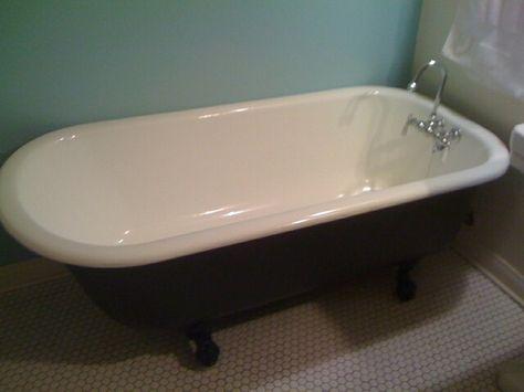 Pkb Reglazing Rusted Clawfoot Bathtub After Reglazed White