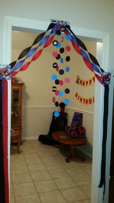Spiderman Birthday Decoration Party ideas Pinterest Birthday