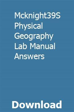 Mcknight39s Physical Geography Lab Manual Answers Transmission Repair Repair Manuals Automatic Transmission