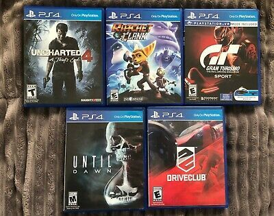 Lot Of 5 Playstation 4 Ps4 Games Uncharted 4 Gran Turismo Ratchet And Clank In 2020 Ps4 Games Playstation Uncharted