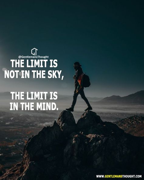 Der Einzige, der Dich wirklich aufhalten kann, bist Du selbst. Träume groß. Denke groß. Handle groß.