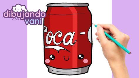 Como Dibujar Lata De Cocacola Kawaii Dibujos Faciles Anime