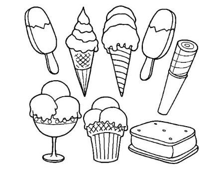 Coloring Page Base Ice Cream Coloring Pages Ice Cream Crafts