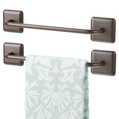 Adhesive Metal Hand Towel Bar For Bathroom Pack Of 2 Towel Dish Towels Hand Towels
