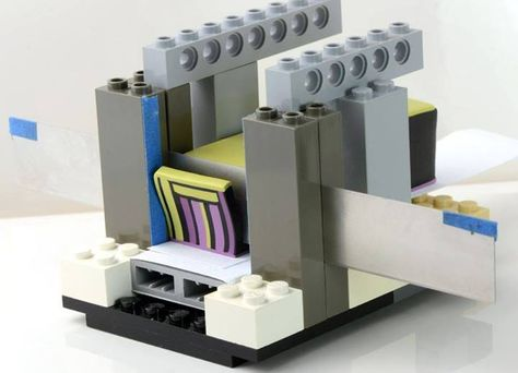 How innovative!  A cane slicer made from Lego.