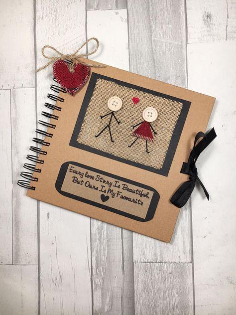 #everylovestoryisbeautifulbutoursisnyfavourite #keepsakebook #memorybook #scrapbook #scrapbooking #photoalbum #anniversarygift #valentinesgift #giftforboyfriend #giftforgirlfriend #scottishgift #tartangift #buttonheads