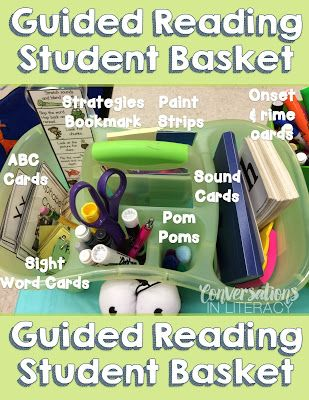 Organize your teacher basket for guided reading!