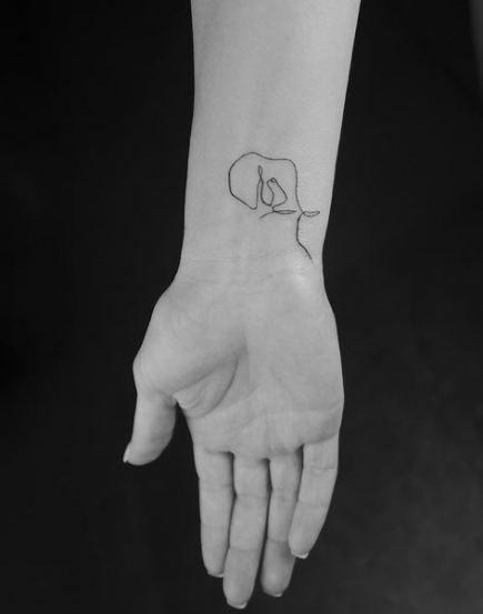 41 Ideas Tattoo Elephant Small Simple Ink Elephant Tattoos Line Tattoos Elephant Tattoo Small