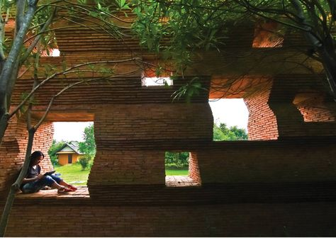 The Kantana Film Institute is Shaded by a Sawtooth Brick Wall in Thailand Kantana Institute by Bangkok Project Company – Inhabitat - Green Design, .