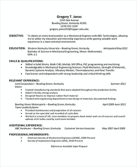 The 25+ best Engineering internships ideas on Pinterest - manufacturing engineer resume