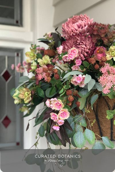 Pin On Faux Flower Hanging And Wall Basket Arrangements